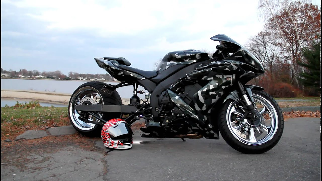 Yamaha R Stretched And Lowered