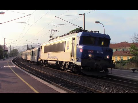 SNCF Trains In Nice, Monaco & Cannes, France