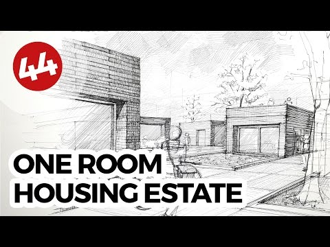 One Room Housing Estate Concept | Daily Architecture Sketches #44