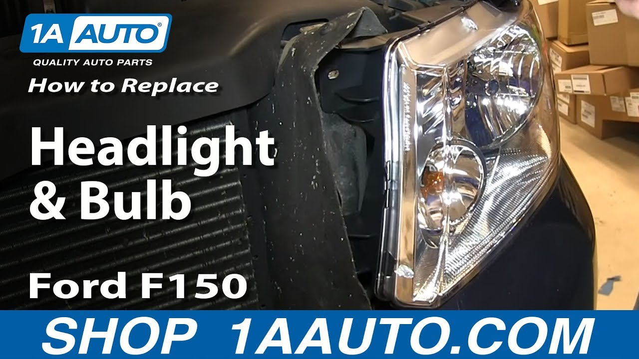 how to replace change headlight and bulb 04 08 ford f150 [ 1280 x 720 Pixel ]