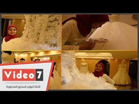 ريم مهندسة احترفت تصميم الملابس: -نفسى أسعد العرائس المحجبات-  - 12:21-2017 / 10 / 15