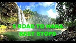 Maui Hawaii - The Road To Hana - Best Mile Markers Black & Red Sand Beaches and Waterfalls