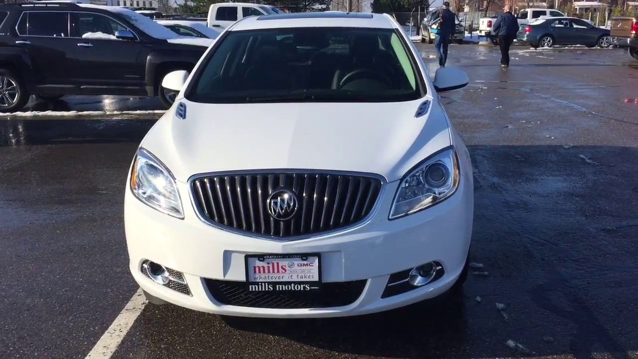 2017 Buick Verano Sedan Push Start Ignition White Oshawa On Stock
