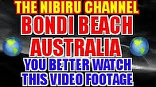 LARGE PLANETARY SHADOW CAUGHT ON CAMERA BONDI BEACH AUSTRALIA