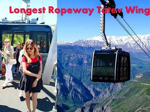 Riding The Longest Cableway In The World - The Wings Of Tatev In Armenia (Guinness World Records)