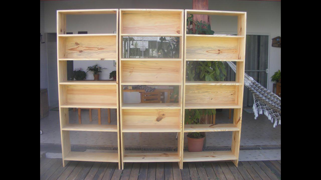 Estante feito de madeira pinus.   #926E39 3000x2250