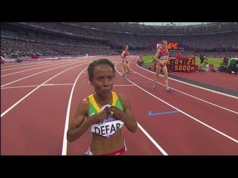 Meseret Defar Wins Women's 5000m Gold - London 2012 Olympics