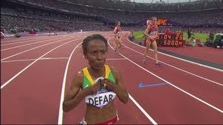 Meseret Defar Wins Women's 5000m Gold - London 2012 Olympics