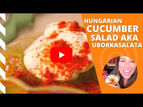 Hungarian Cucumber Salad aka Uborkasalata #SundaySupper