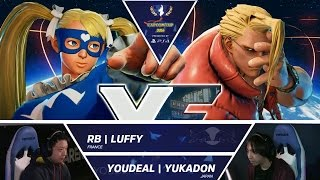 SFV: RB Luffy vs YOUDEAL Yukadon - Capcom Cup 2016 Day 1 Top 16 - CPT2016