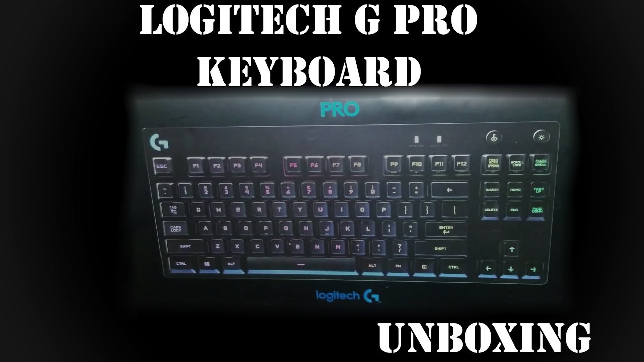 5ab0f6a4914 Logitech G Pro Tenkeyless Keyboard Unboxing - YouTube