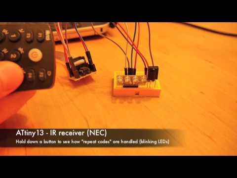 ATtiny13 - IR remote to control LEDs | Łukasz Podkalicki