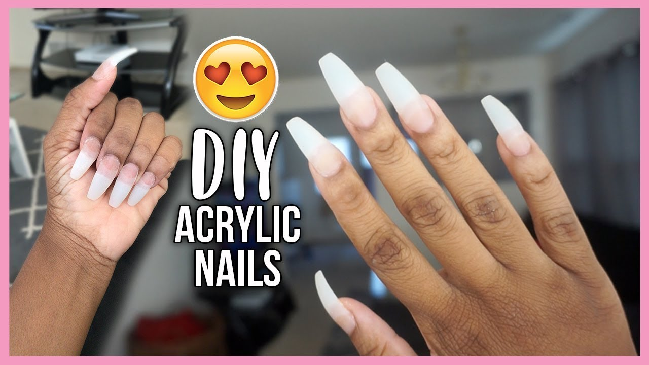 Video SAVE YOUR MONEY! HOW TO DO FAKE NAILS AT HOME | BEGINNER FRIENDLY