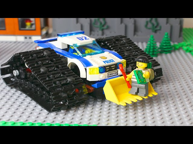 LEGO Cars experemental fire truck, police car and dump truck Video for Kids