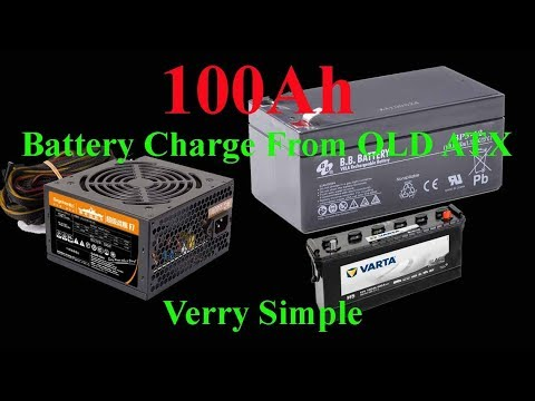 How To Make 100Ah From Old ATX Power Supply - Fast And Verry Simple