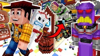Minecraft Toy Story - Can Forky, Woody And Buzz Escape Zurg?! [8]