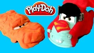 Play Doh Superhero Cars Superman vs. The Thing Disney Pixar Carros Mater & Purple Ramone