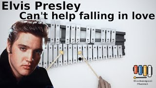 Elvis presley(Twenty one pilots) - Can't Help Falling In Love💗🎺on the Glockenspiel (BELLs) 🎧