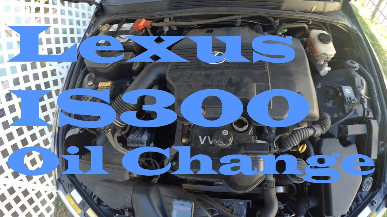 LEXUS IS300 2001-2005 How to oil change - YouTube