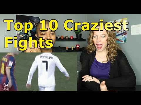 Lionel Messi Vs Cristiano Ronaldo: Top 10 Craziest Fights, Fouls, Red Cards (Reactions 🔥)
