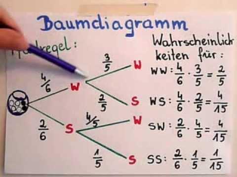 baumdiagramm und pfadregel youtube