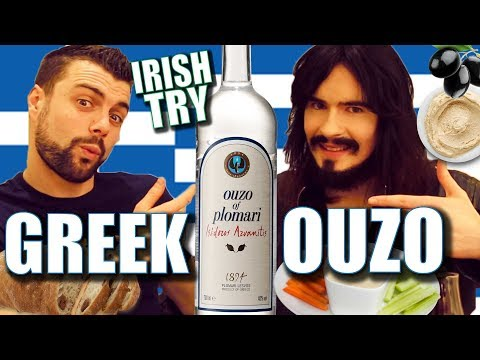 Irish People Taste Test 'GREEK OUZO' For The First Time!!