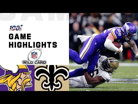 Vikings vs. Saints Wild Card Round Highlights | NFL 2019 Playoffs