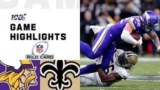 Vikings vs. Saints Wild Card Round Highlights