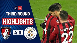 Billing Brace & Solanke's First Cherries Goal! | Bournemouth 4-0 Luton Town | Emirates FA Cup 19/20