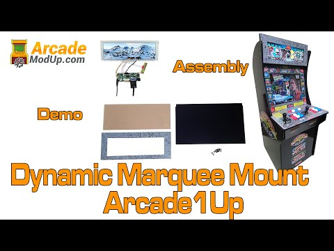 Arcade1Up Digital LCD Marquee Mod from ArcadeModUp
