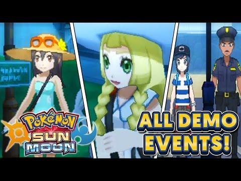 Pokémon Sun & Moon - NEW Gameplay of All Demo Events + Lillie & Alolan Dugtrio!