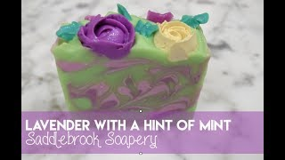Lavender with a Hint of Mint Artisan Soap // Saddlebrook Soapery