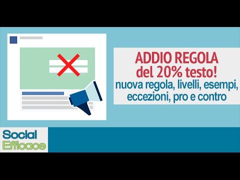 Nuova regola sul testo nelle immagini dei Facebook Ads