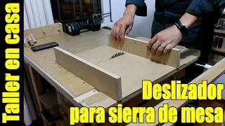 DIY Sierra de banco Parte 5/6 - Deslizador sierra circular de mesa