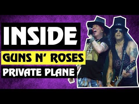 Inside Axl Rose & Slash Guns N' Roses Plane Los Angeles November 29 2017