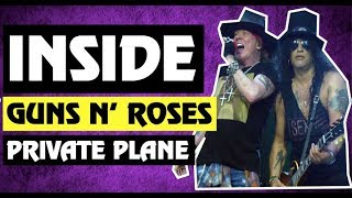 Inside Axl Rose & Slash Guns N' Roses Plane 2018