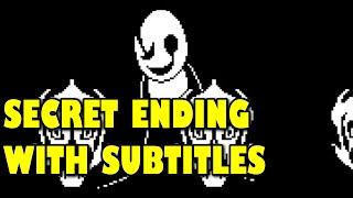 W.D. Gaster Fight - SUBTITLES + SECRET ENDING (Undertale Fangame) Manly Let's Play