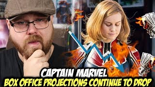 Captain Marvel Box Office Projections Continue to DROP!!!