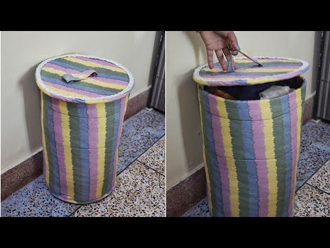 DIY laundry basket from old cloth - How to Make Storage Basket/Organizer