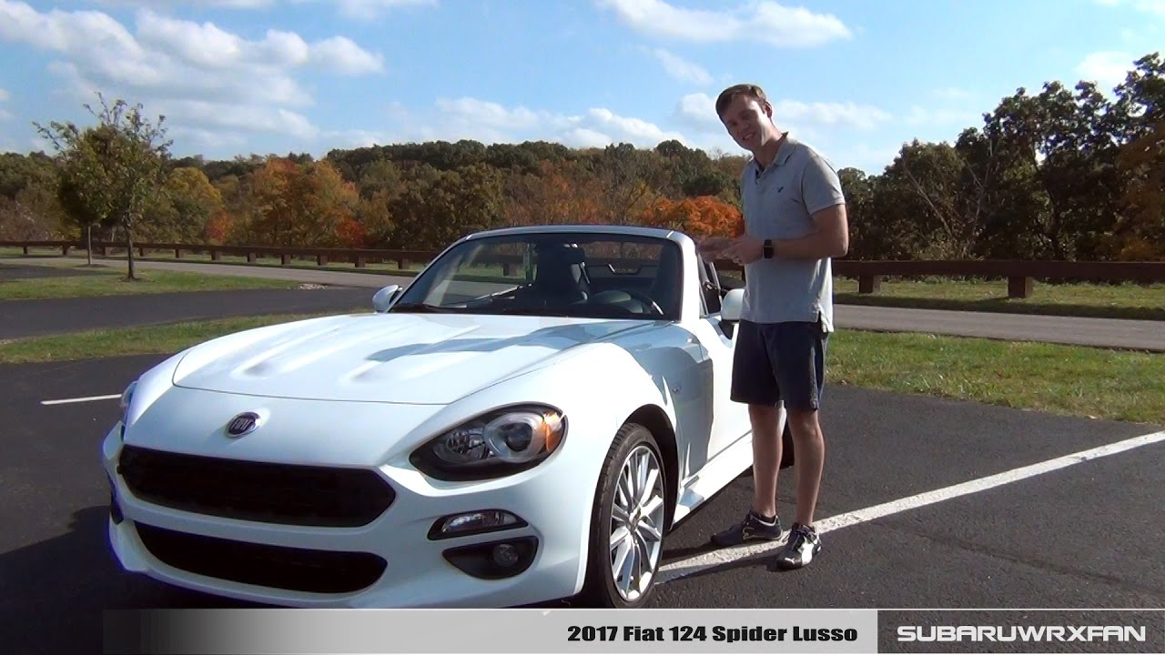 review 2017 fiat 124 spider lusso youtube. Black Bedroom Furniture Sets. Home Design Ideas