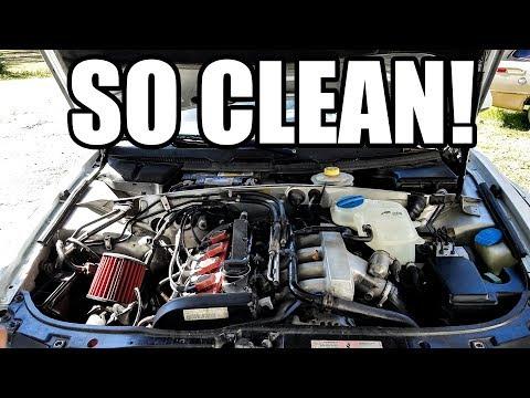SUPER CLEAN ENGINE BAY - Widebody Audi A4 Avant Wagon