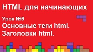 HTML для начинающих. Урок 6. Основные теги html, заголовки html.