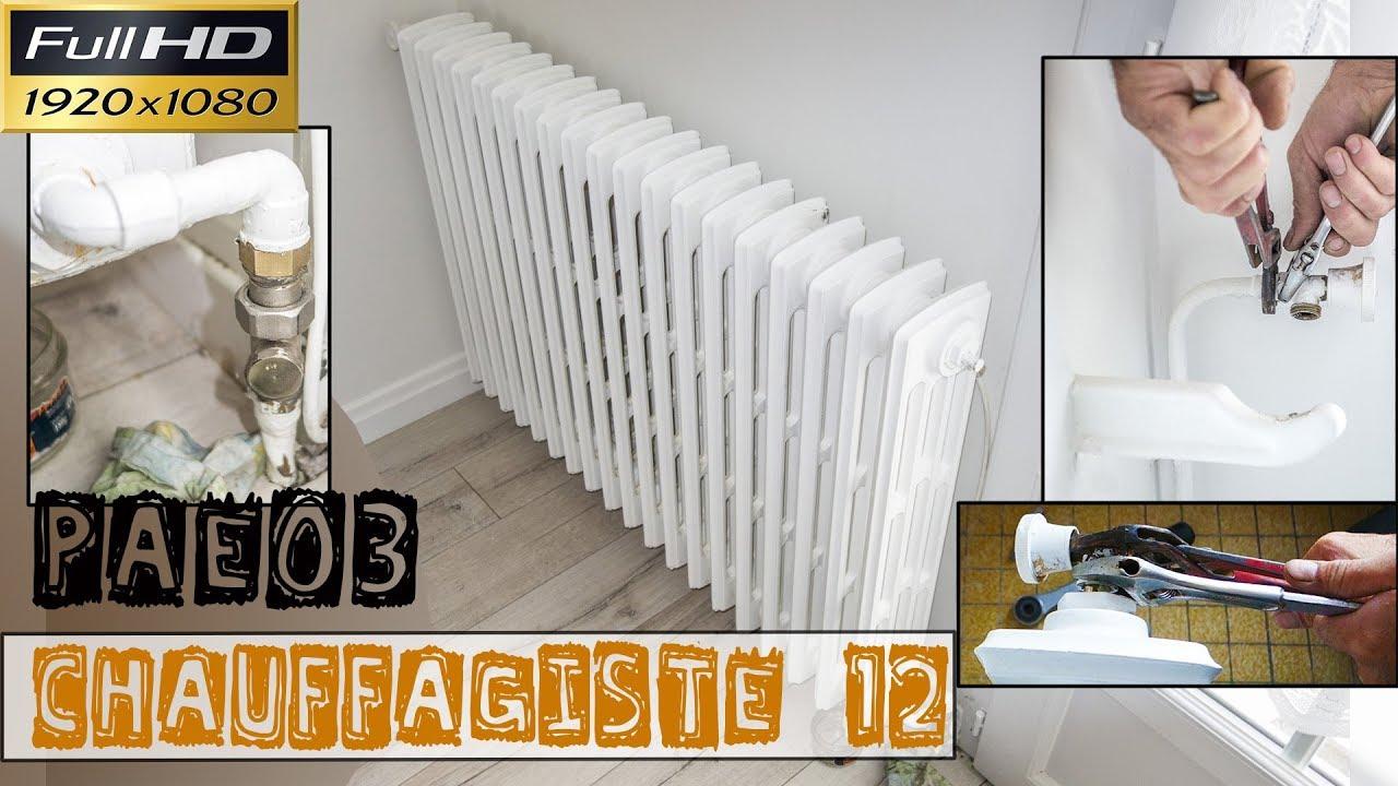 Chauffagiste12 Pae03 Le Remplacement De Robinet Et De Coude De Radiateur Sur Des Radiateurs En Fonte Youtube