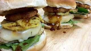 Ava's Flava Episode 152 Grilled Chicken, Pineapple Teriyaki Sandwich