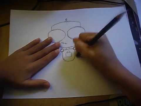 Step-by-step How To Draw Gir.