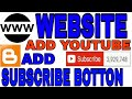 How To Add Youtube Subscribe Button On Blogger Or Website