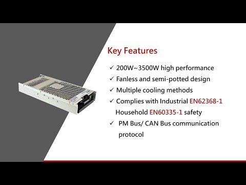 UHP Series Fanless Conduction-cooled Power Supply 無風扇傳導散熱式電源供應器