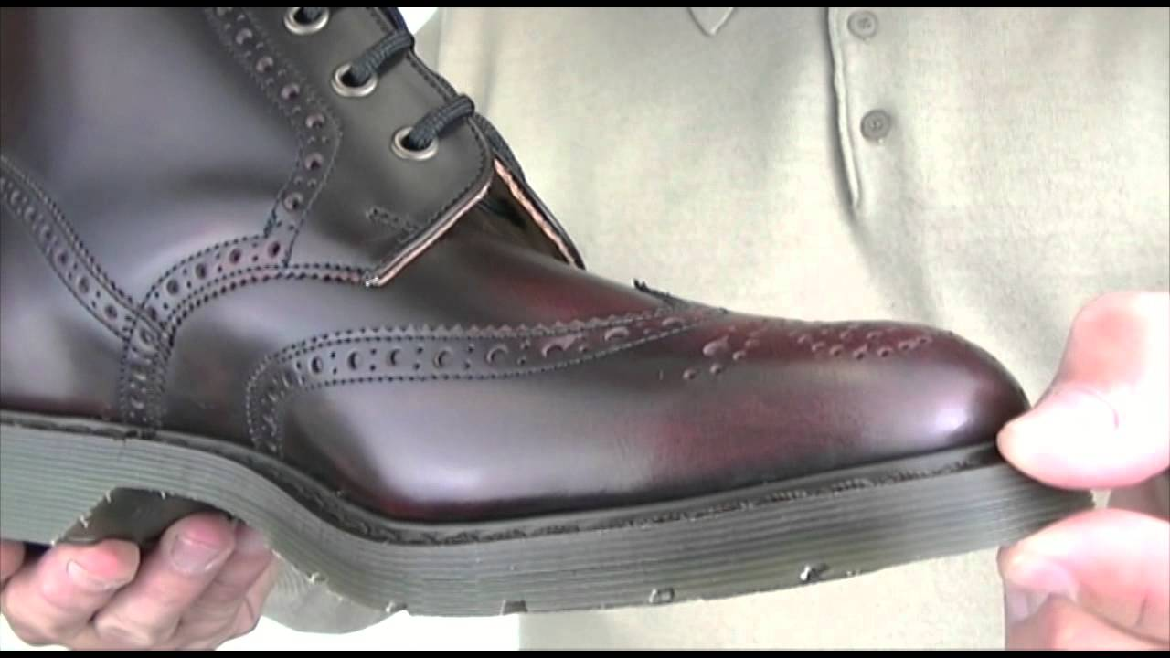 Oxblood Brogue Boots With Rubber Sole Youtube