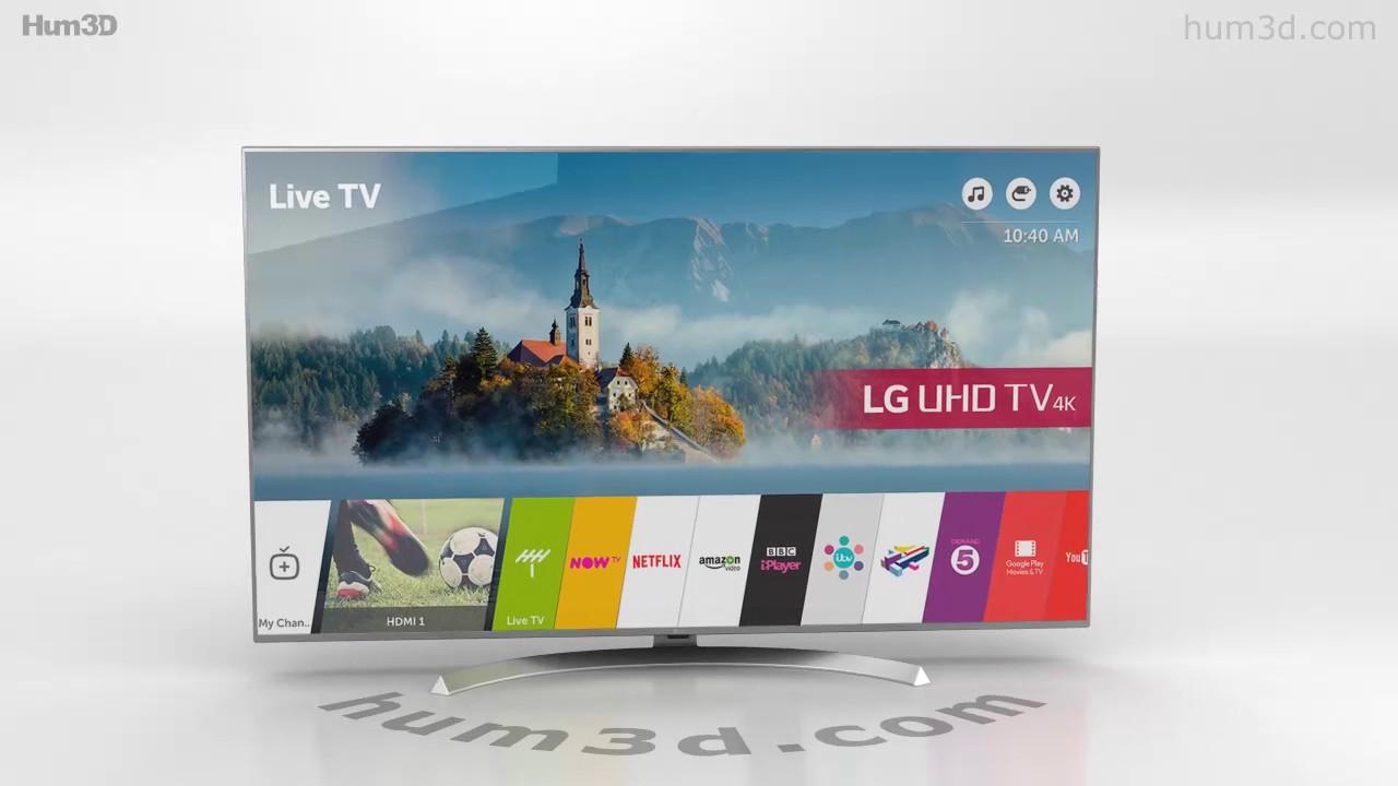 LG 55'' ULTRA HD 4K TV 55UJ701V 3D model by Hum3D.com - YouTube