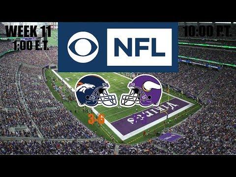 2019 NFL Season - Week 11 - (Prediction) - Broncos At Vikings